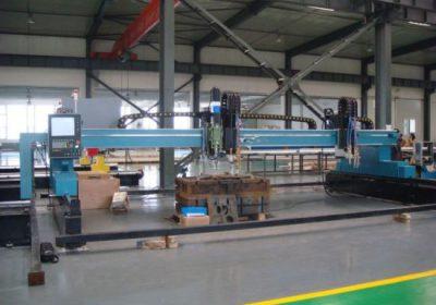 Máquina de corte por llama de plasma de pórtico CNC para chapa de hierro